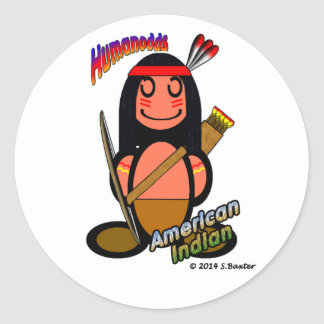 American Indian (with logos) Classic Round Sticker