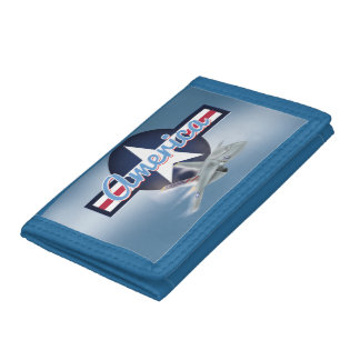American Jet Fighter Trifold Wallet