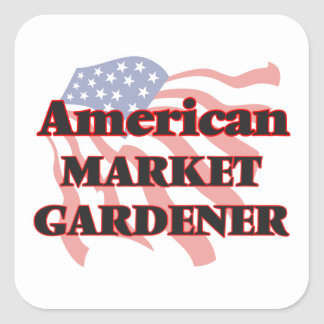 American Market Gardener Square Sticker