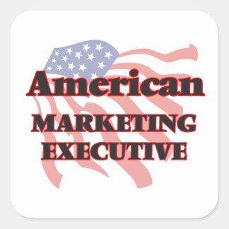 American Marketing Executive Square Sticker