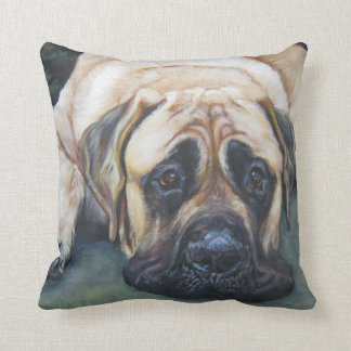 American Mastiff Fine Art Painting Cushion