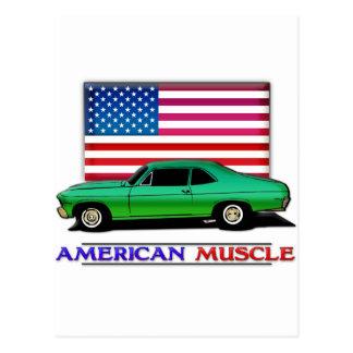 American Muscle Hotrod Postcard