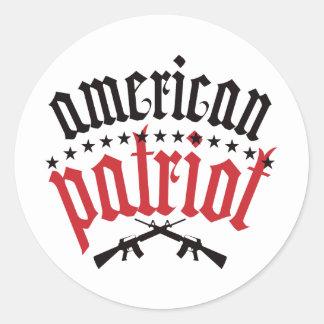 American Patriot - Red Classic Round Sticker