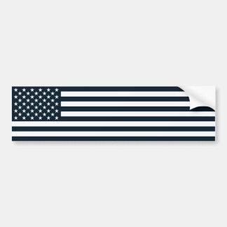 American Patriotic Black & White Flag Bumper Sticker