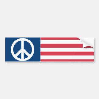 American Peace Flag Bumper Sticker