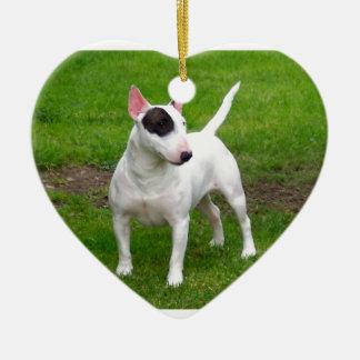 American Pit Bull Terrier Dog Ceramic Heart Decoration