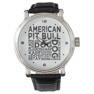 American Pit Bull Typography Watch