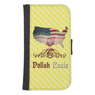 American Polish Roots Samsung S4 Wallet Case