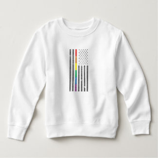 American Pride Flag Toddler Sweatshirt