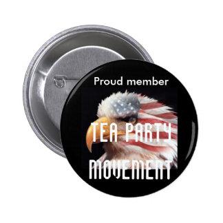 american, Proud member, TEA PARTY MOVEMENT Pin