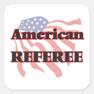 American Referee Square Sticker