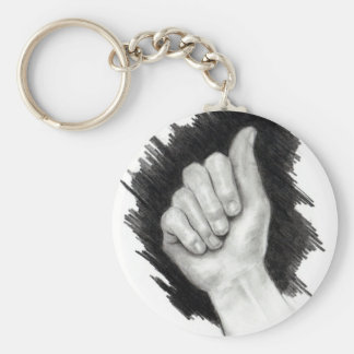 AMERICAN SIGN LANGUAGE: LETTER A KEY CHAINS