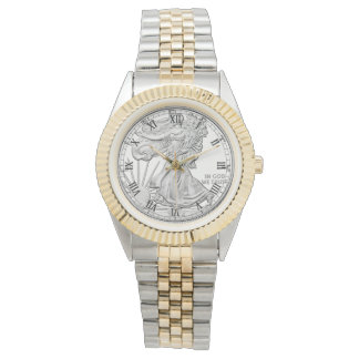 American Silver Dollar Coin - Two Toned Watch