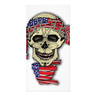 American Skull Picture Card