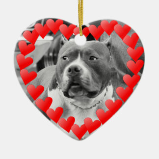 American Staffordshire Terrier Valentines Ornament