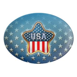 American Star Porcelain Serving Platter