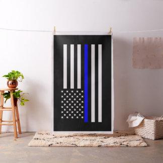 American Thin Blue Line Graphic Decor Fabric