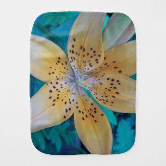 American Tiger Lily Burp Cloth