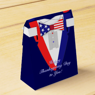 American Tuxedo Bowtie Stars and Stripes Party Favour Box