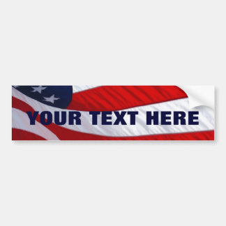 American Waving Flag Bumper Sticker