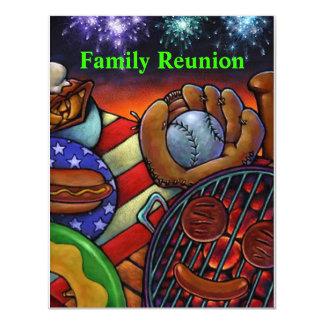 Americana Family Reunion Invitation barbecue grill