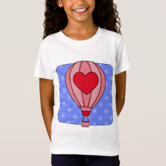 Americana Hot Air Balloon Red White Blue T-Shirt