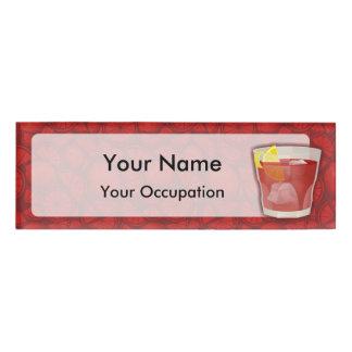 Americano  cocktail name tag