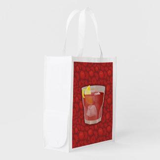 Americano cocktail reusable grocery bag