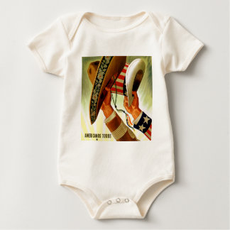 Americanos Todos Bicultural WWII Poster Baby Bodysuit