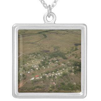 Amerindan Village. Seasonally-flooded Silver Plated Necklace