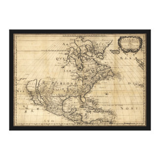 Amérique Septentrionale North America Map (1650) Canvas Print