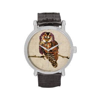 Amethyst & Amber Owl Watch