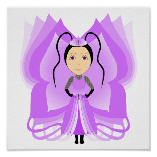 Amethyst Butterfly Princess Poster