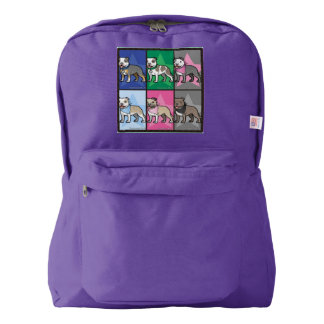 Amethyst cartoon Staffy love Backpack