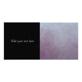 Amethyst Ice Abstract Art Customized Photo Card