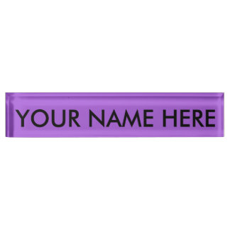 AMETHYST PURPLE (solid colour) ~ Nameplate