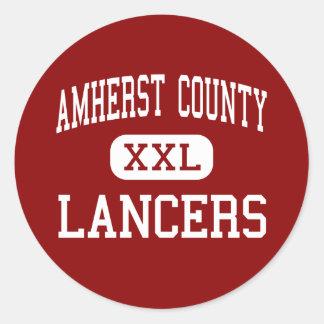 Amherst County - Lancers - High - Amherst Virginia Round Sticker