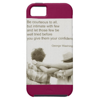 Amizade Friendship George Washington Tough iPhone 5 Case