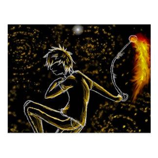 among fiery stars postcard