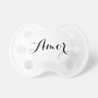Amor Calligraphy Script Baby Pacifier BooginHead Pacifier