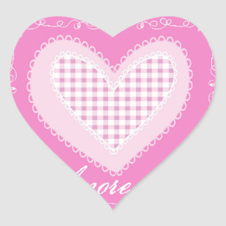 Amore mio heart sticker