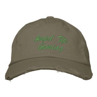 Ampd Up Gaming Olive Green Hat Embroidered Hat
