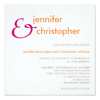 Ampersand :: Wedding Invitation