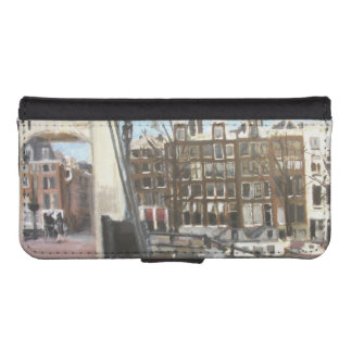 Amsterdam Bridge and Canal Houses Fine Art iPhone SE/5/5s Wallet Case