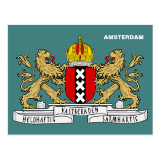 Amsterdam Coat of Arms Postcard