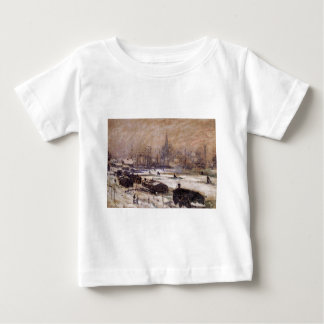 Amsterdam in the Snow by Claude Monet Baby T-Shirt