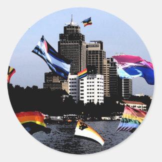 Amsterdam Pride (Dark Strokes Technique) Classic Round Sticker