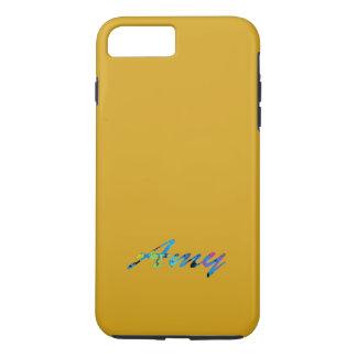 Amy Orange Gold Tone iPhone case