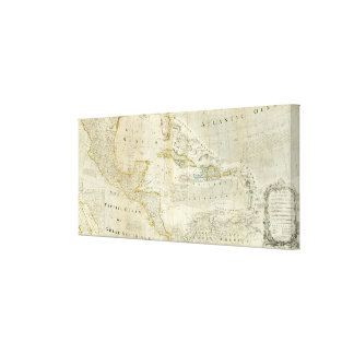 An Accurate Map Of North America Southern section Gallery Wrapped Canvas