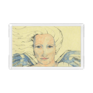An acrylic tray with 'Angel Messenger' image
